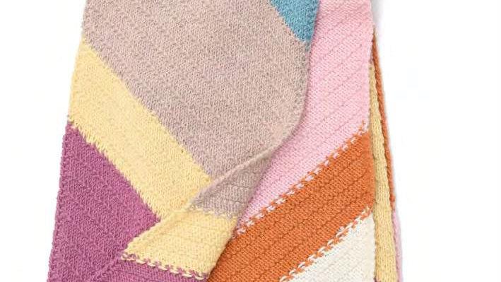 Glencoul Diagonal Seed Stitch Scarf CANTALOUPE Pattern