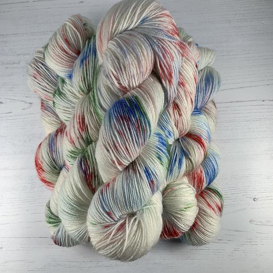 100g Hand Dyed 4ply Yarn - Pollack's Return