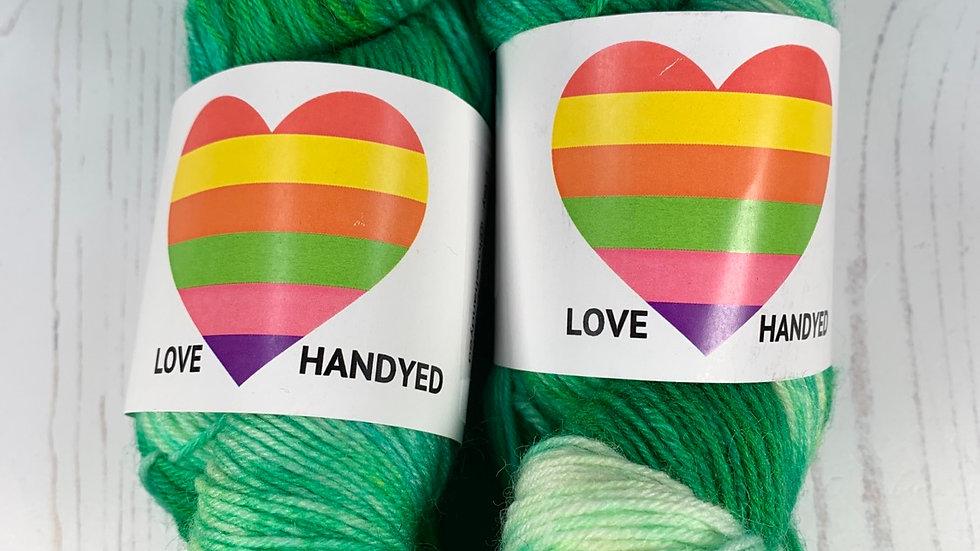 4ply Sock Yarn -  Emerald Splash