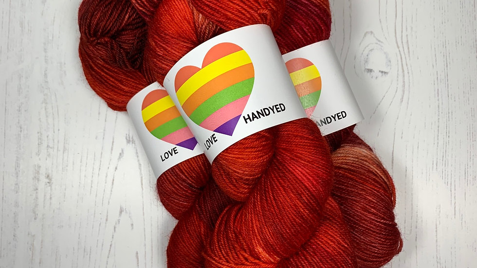 Smashed Fruit 100g Hand Dyed 4ply Yarn - Tomato Tornado