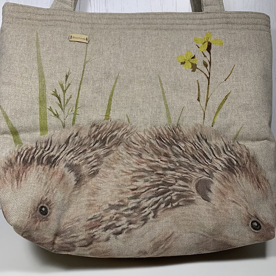 Padded Project Bag - Snuffling Hedgehogs
