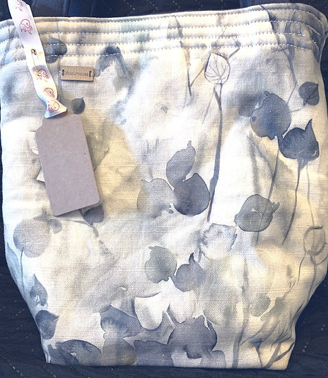Small Padded Project Bag - Voyage Masion Linen - Misty Morning
