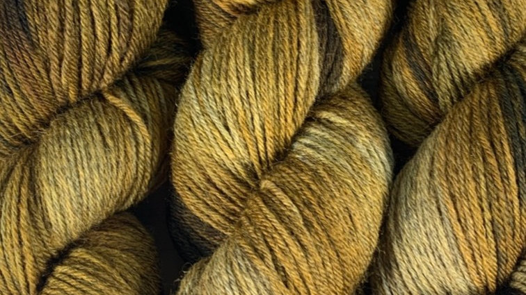 Simply Patchy - Dirty Mustard - 4ply