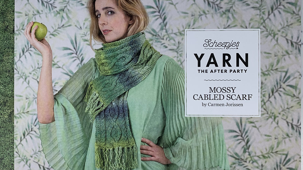 YARN The After Party - Mossy Cabled Scarf