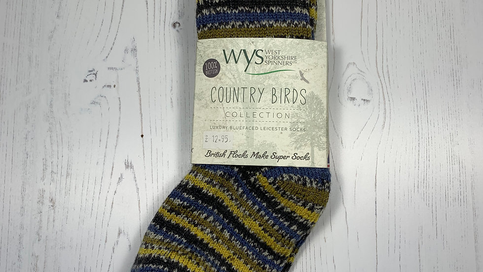 WYS Socks - Blue Tit - UK Size 3-5