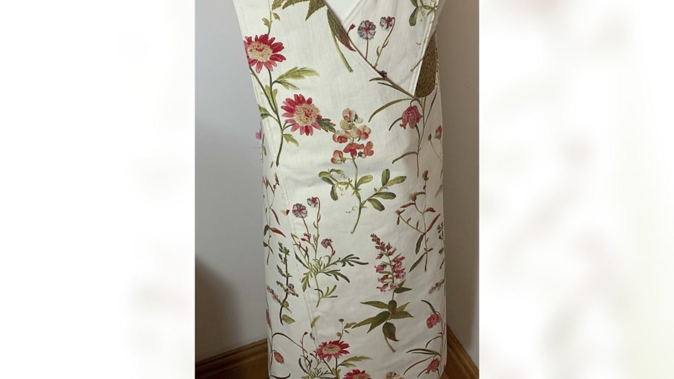 Crossover Back Pinnies - Floral Fabric