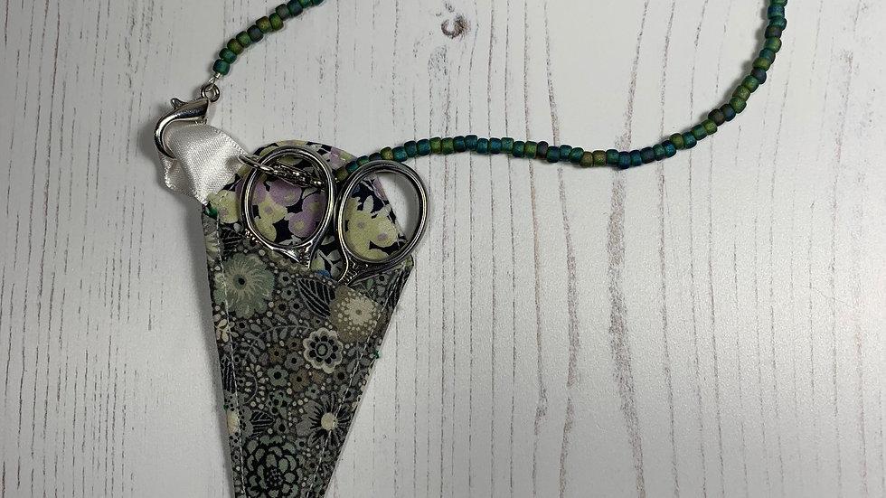 Scissor On Beaded Chain in Handmade Liberty Case