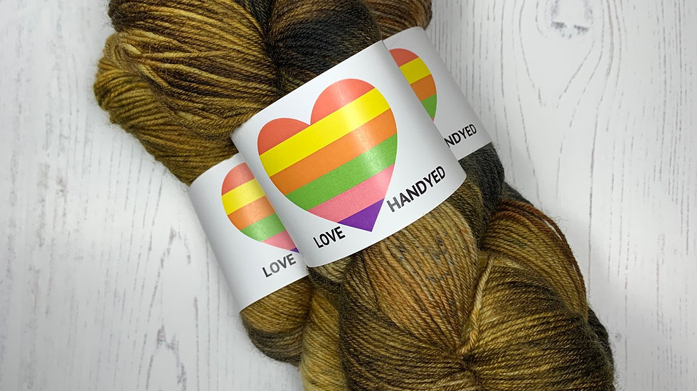 Smashed Fruit 100g Hand Dyed 4ply Yarn - Pineapple Passion