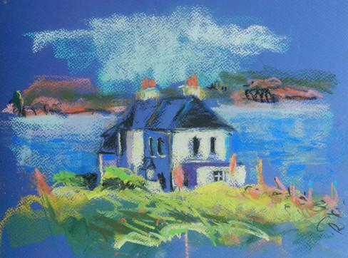 House, Iona towards Mull
