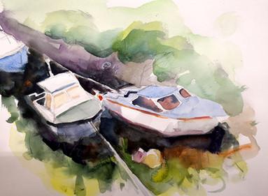 Boats at Castlebay, Barra