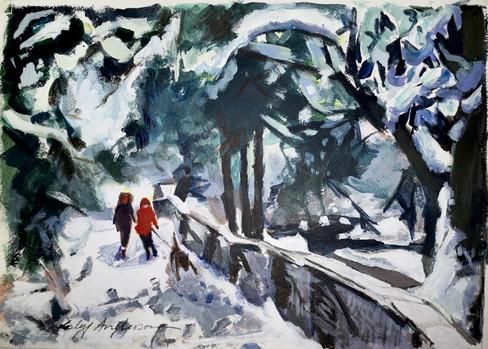 Winter Stroll, Roukenglen