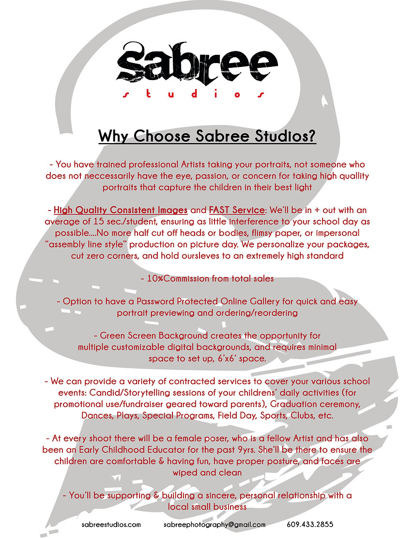Why Choose Us | Photography | Sabree Studios | Mecer County, NJ