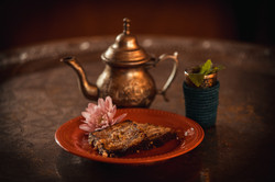 Almond cake & Algerian Fresh Mint tea