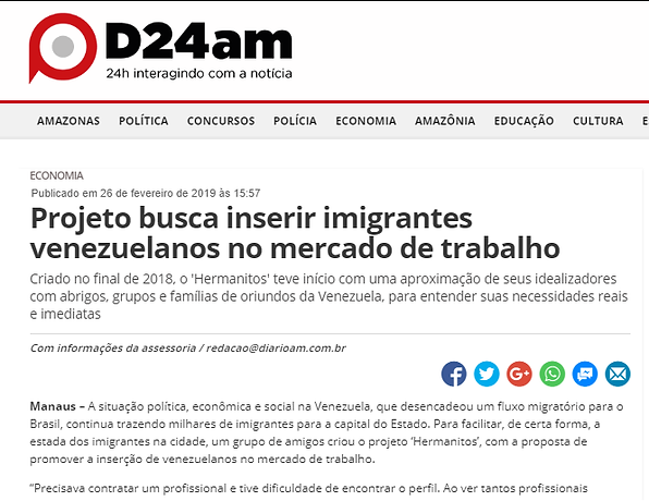 D24AM - PROJETO BUSCA INSERIR IMIGRANTES