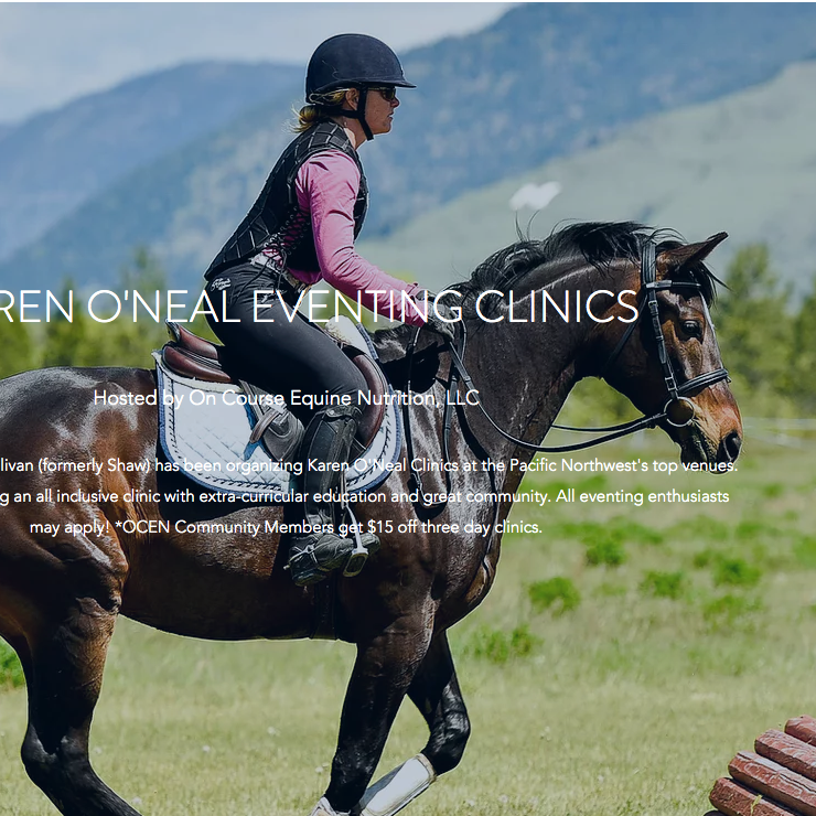 Karen O'Neal Eventing Clinic @ BSHP May 17-19th, 2021 (Missoula, MT)