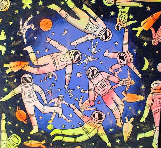 Cosmonautes 70x70