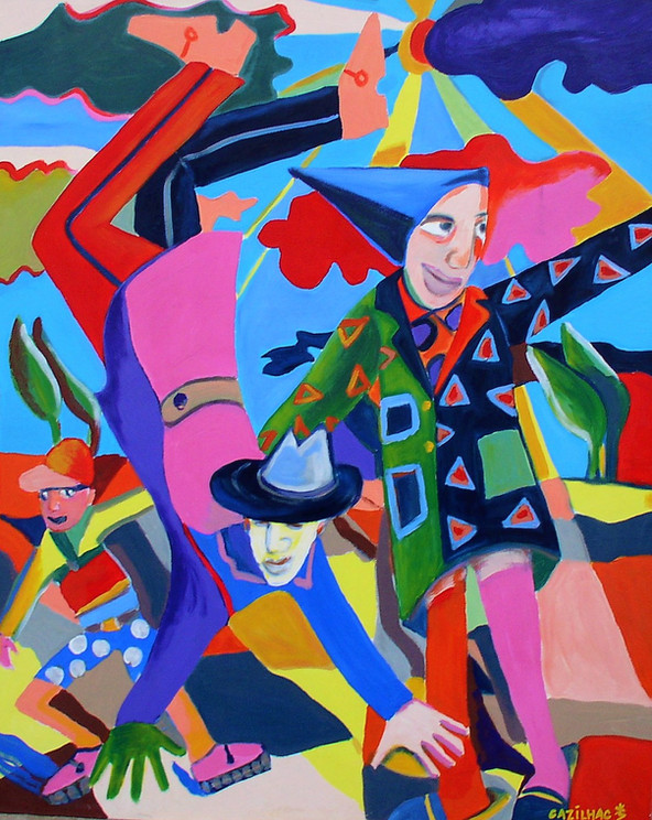 Tramontane - acryl sur toile - 81x100
