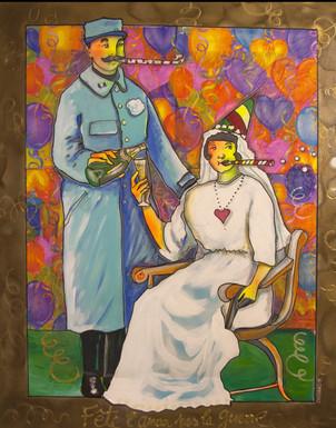 """Fête l;amour, pas la guerre! - serie """"gais mariages"""" - 81x100"""