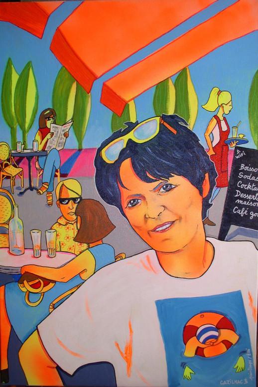 Autoportrait au café - 60x80