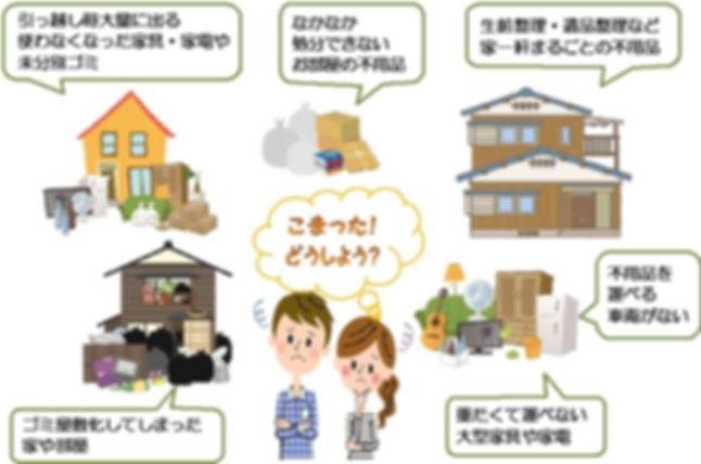 香川県 徳島県 粗大ゴミ処分 不用品回収 業者 ちゃんとクリーンサービス