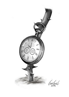 The Art of Gueguel tatouage tatoo  cadran rose épine