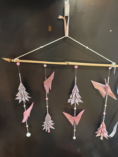Suspension papillons&sapins