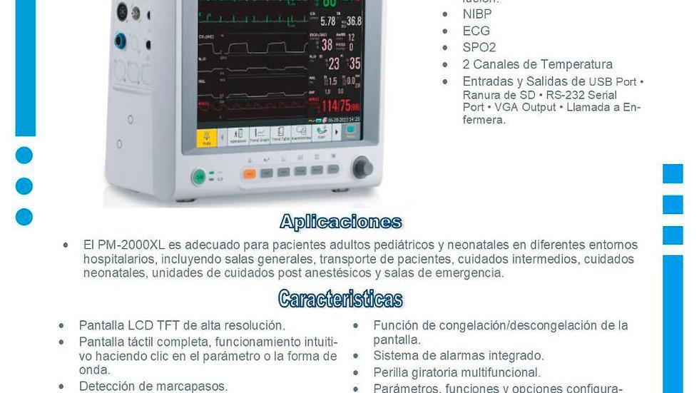 Monitor de signos Vitales PM2000 XL Plus