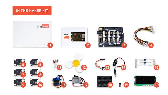 Maker Kit for SwiftIO v2 (Shipping in early Jan.)