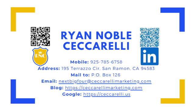 Ryan Noble Ceccarelli Business Card