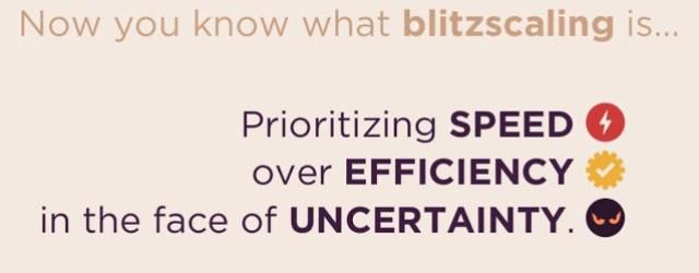 Blitzscaling definition