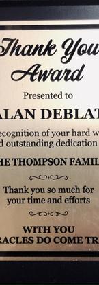 Alan Deblat Thank You Award.heic