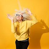 Ältere Frau tanzen