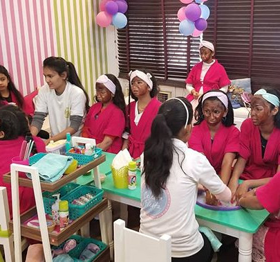 Spa parties for your princess and her fr