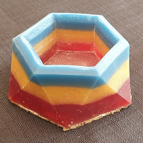 SMALL RING/CANDLE HOLDER BLUE, YELLOW, RED