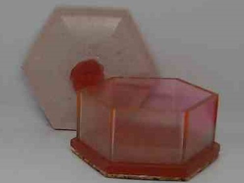 BOX WITH LID: Red, pink