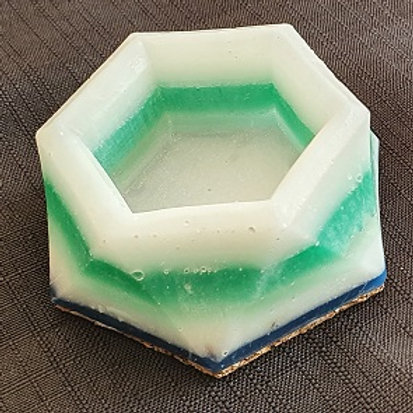 SMALL RING/CANDLE HOLDER WHITE, GREEN, NAVY