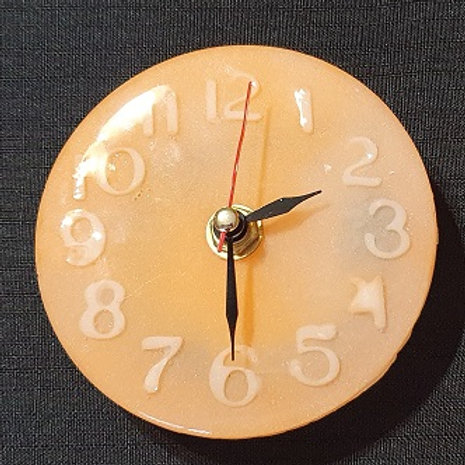 CLOCKS: Small Orange and White