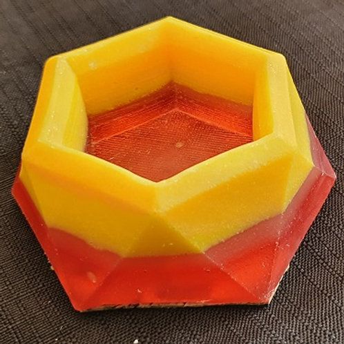 SMALL RING/CANDLE HOLDER YELLOW, ORANGE