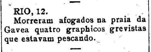 Grevistas afogados -  Estado de Sergipe, Aracaju 14 de setembro de 1919 - jpeg a