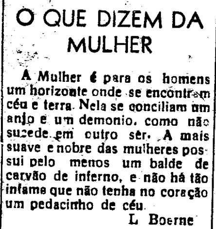 O que dizem da mulher -  O Nordeste, Aracaju 31 de dezembro de 1958 - arquivo 00001.jpg