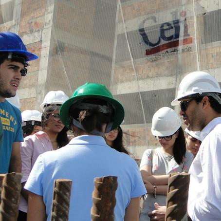 Obra da Celi recebe visita de alunos da UFS