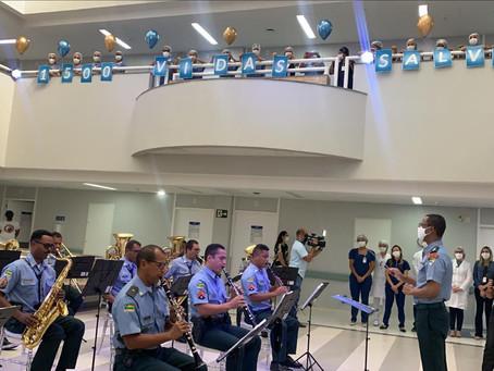 Hospital Primavera comemora 1.500 altas de pacientes com Covid-19