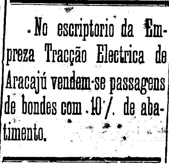 Passagem de Bonde - A Gazeta do Povo Aracaju 05 de junho de 1926.jpg