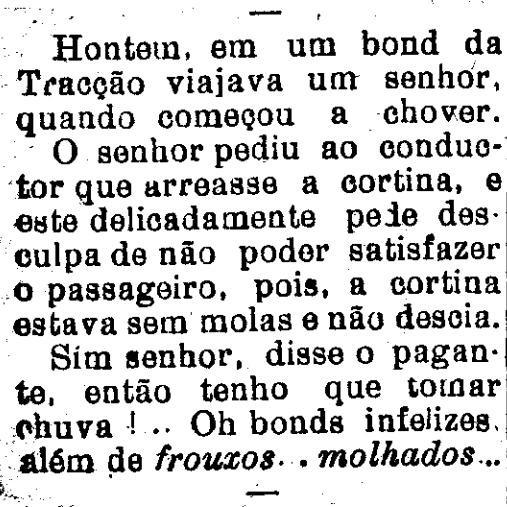 Bondes frouxos e molhados - Correio de Aracaju, 31 de agosto de 1926.jpg