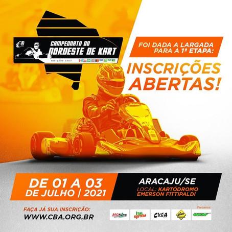 Campeonato do Nordeste de Kart em Sergipe atrai pilotos de todo o país