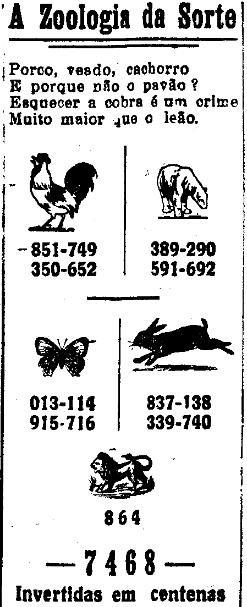 Zoologia da sorte - A Tribuna, Aracaju, 2 de dezembro de 1931.jpg
