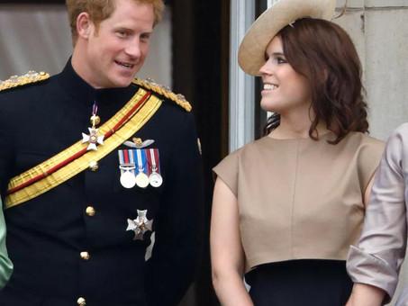 O Principe Harry, encontra sua prima á Princesa Eugenie.
