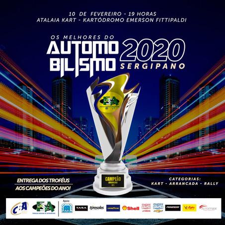 Prêmio Melhores do Automobilismo Sergipano acontece no dia 10 de fevereiro