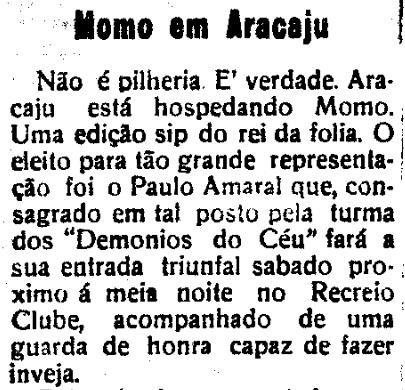 Momo em Aracaju , O Estado de Sergipe, Aracaju 28 de fevereiro de 1935.jpg