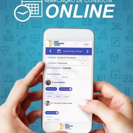 Marcações de consultas on-line
